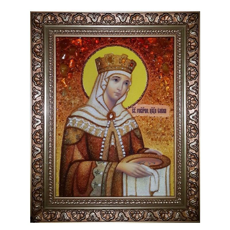 Икона из янтаря Святая Равноапостольная Царица Елена