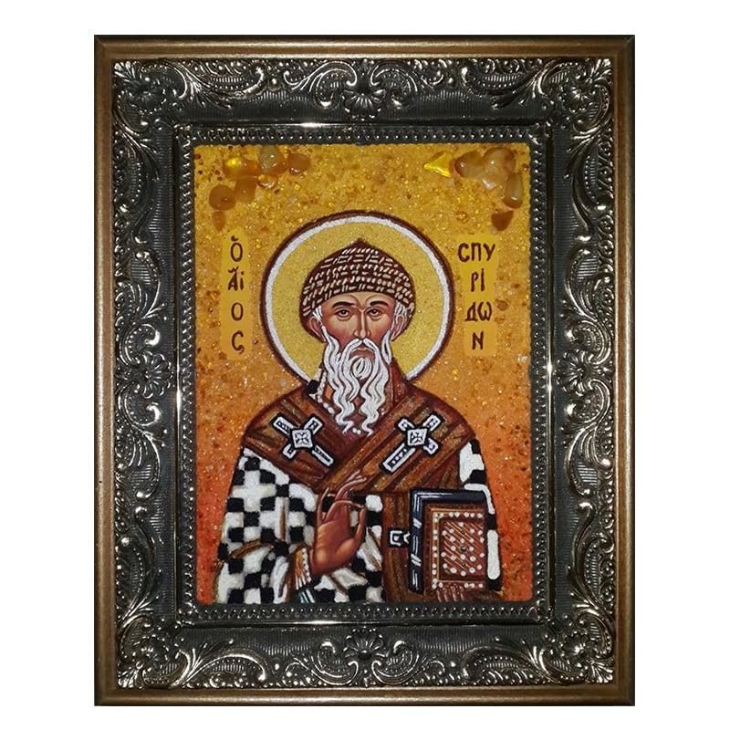 Ікона Бурштин Святитель Спиридон Триміфунтський