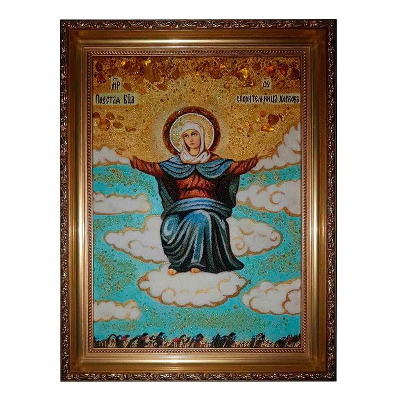 Ікона з бурштину Божої Матері Спорителька хлібів
