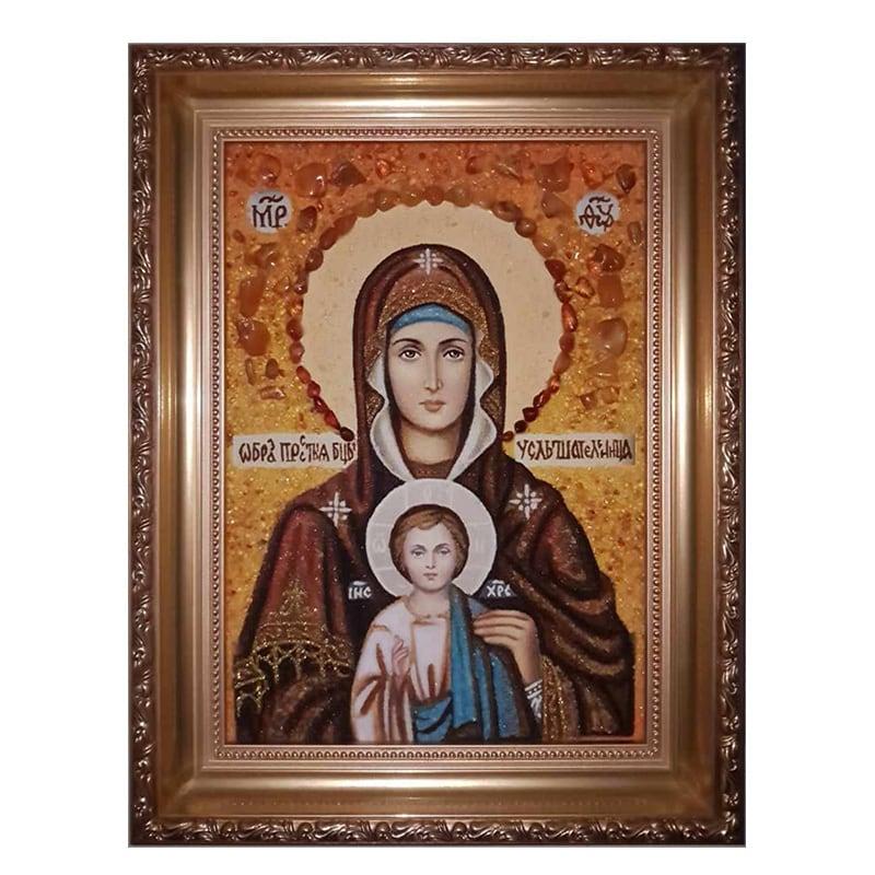 Ікона з бурштину Божої Матері Почутельніца