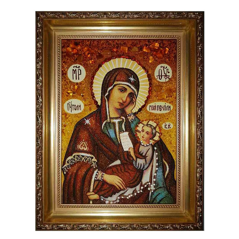 Ікона Янтар Богородиці Утамуй моя печалі