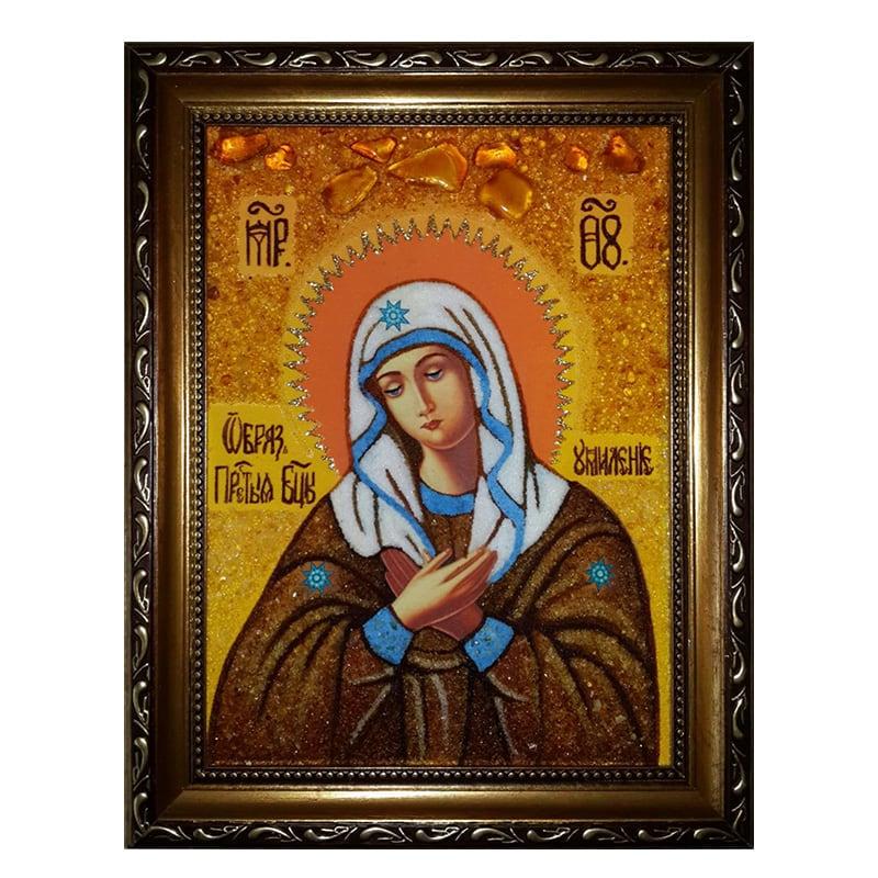 Икона из янтаря Умиление Божьей Матери