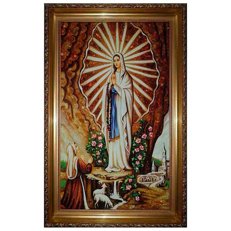 Икона янтарь Явление Богородицы