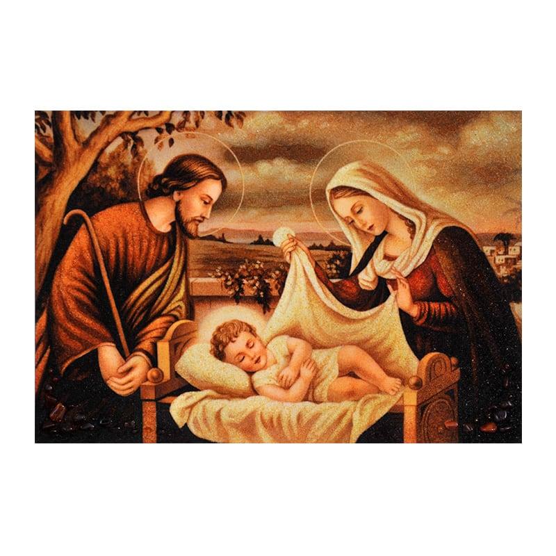 Ікона з бурштину Святе сімейство