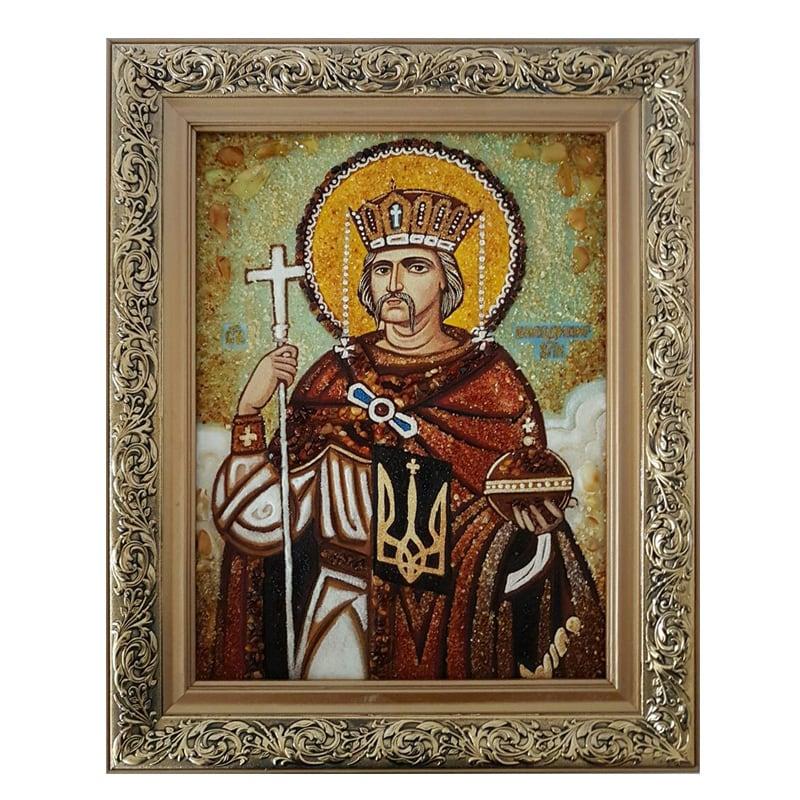 Ікона Бурштин Святий Князь Володимир