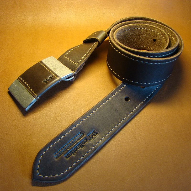 Ремень кожаный в подарок brown