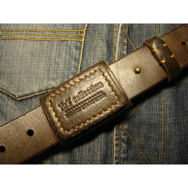 Мужской ремень в подарок Leather