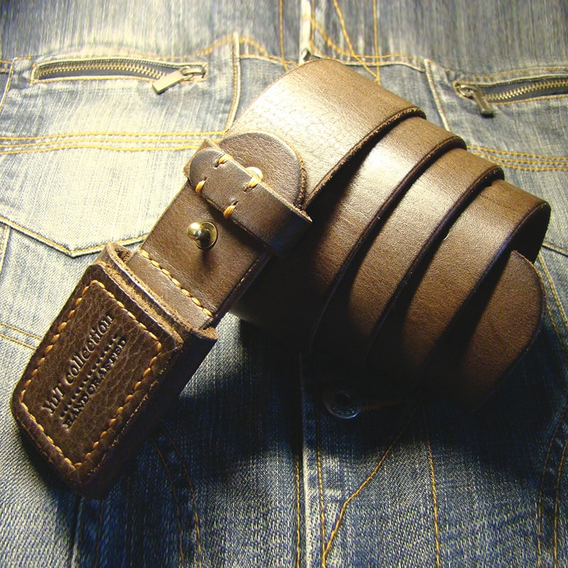 Чоловічий ремінь в подарунок Leather