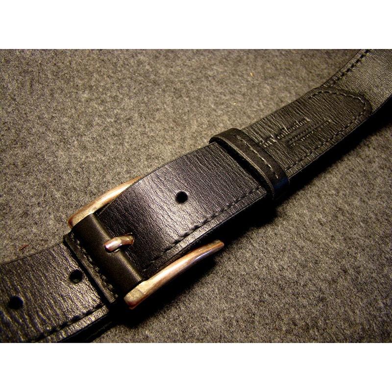 Мужской ремень из кожи leather black