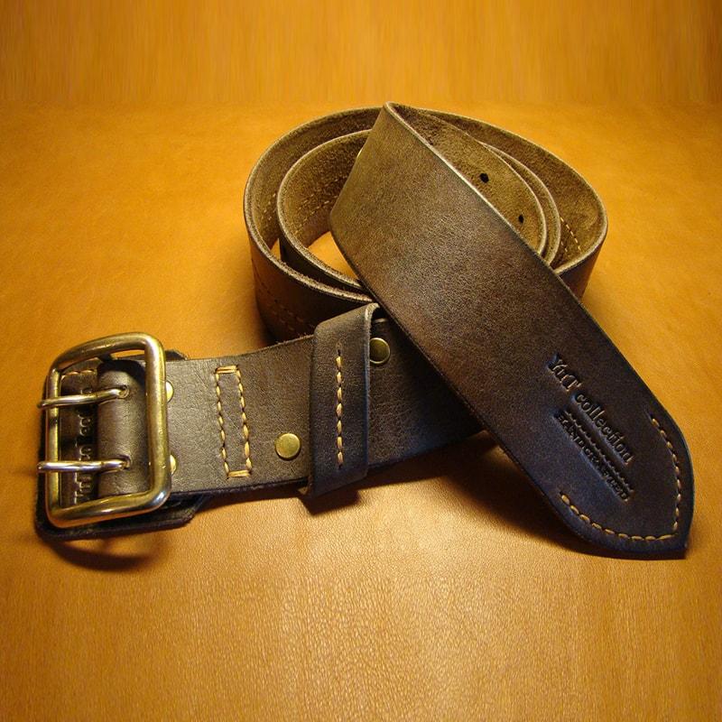 Кожаный коричневый ремень в подарок
