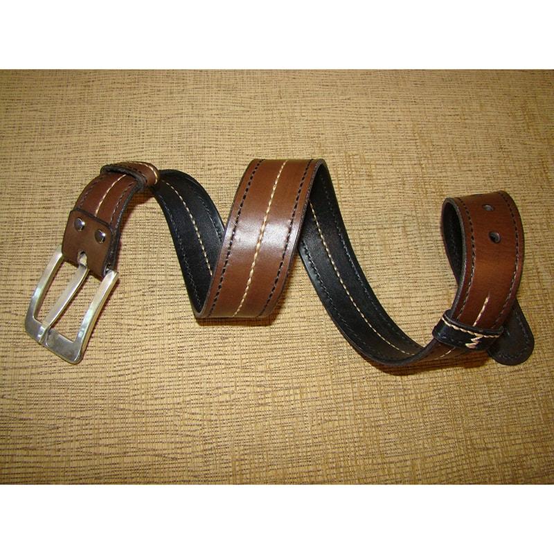 Ремень кожаный двухсторонний double