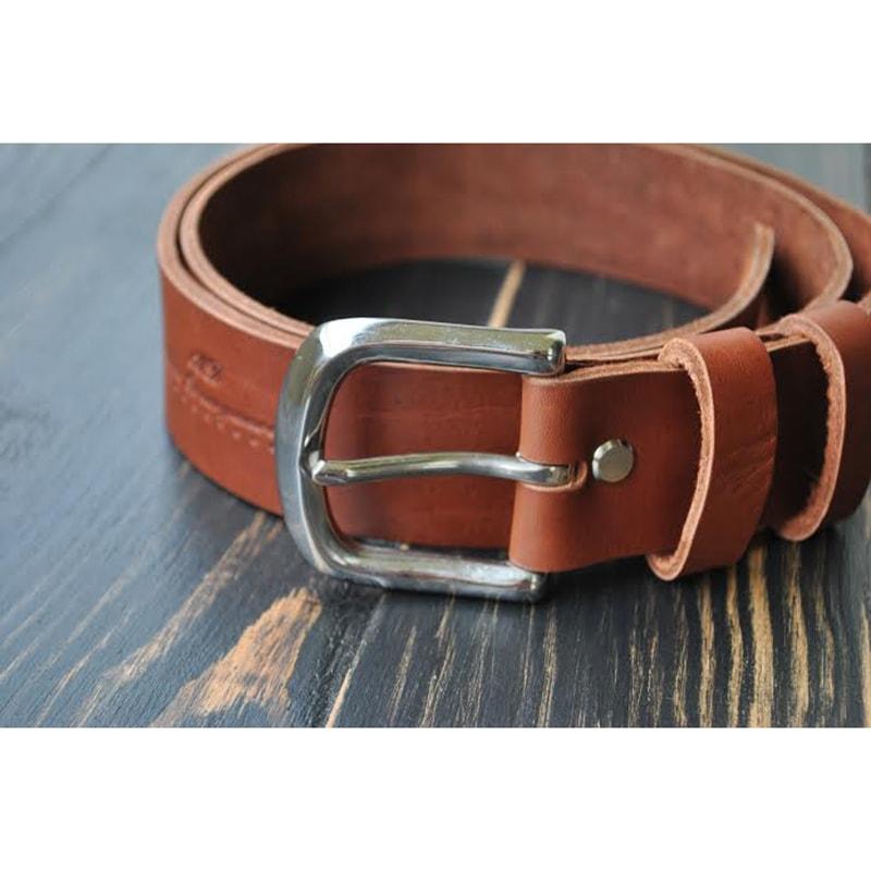 Мужской кожаный ремень Brown leather