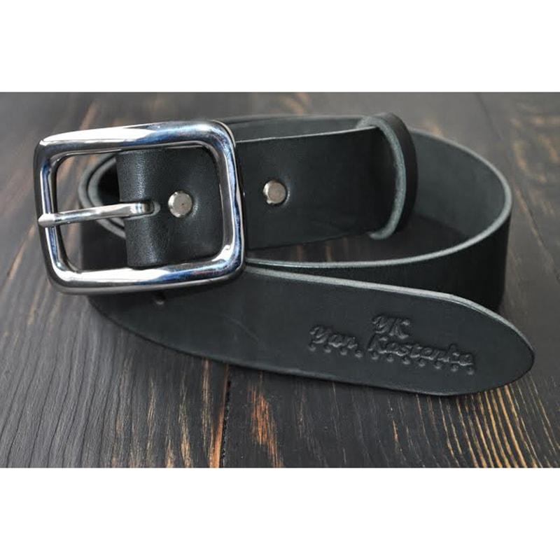 Кожаный мужской ремень Gray leather