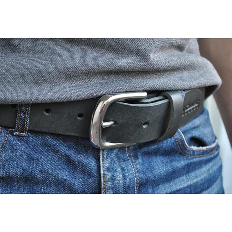 Дизайнерский мужской ремень Gray leather