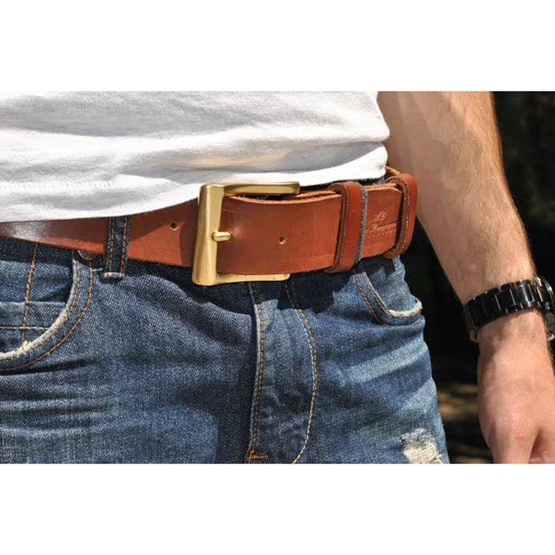 Кожаный ремень Brown leather
