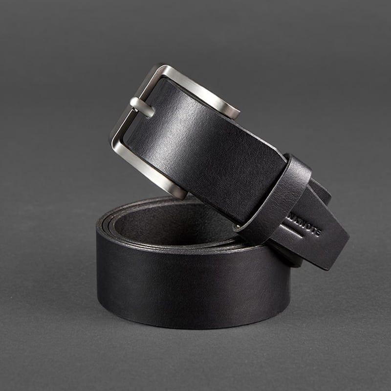 Кожаный ремень Belt Vintage Black Leather