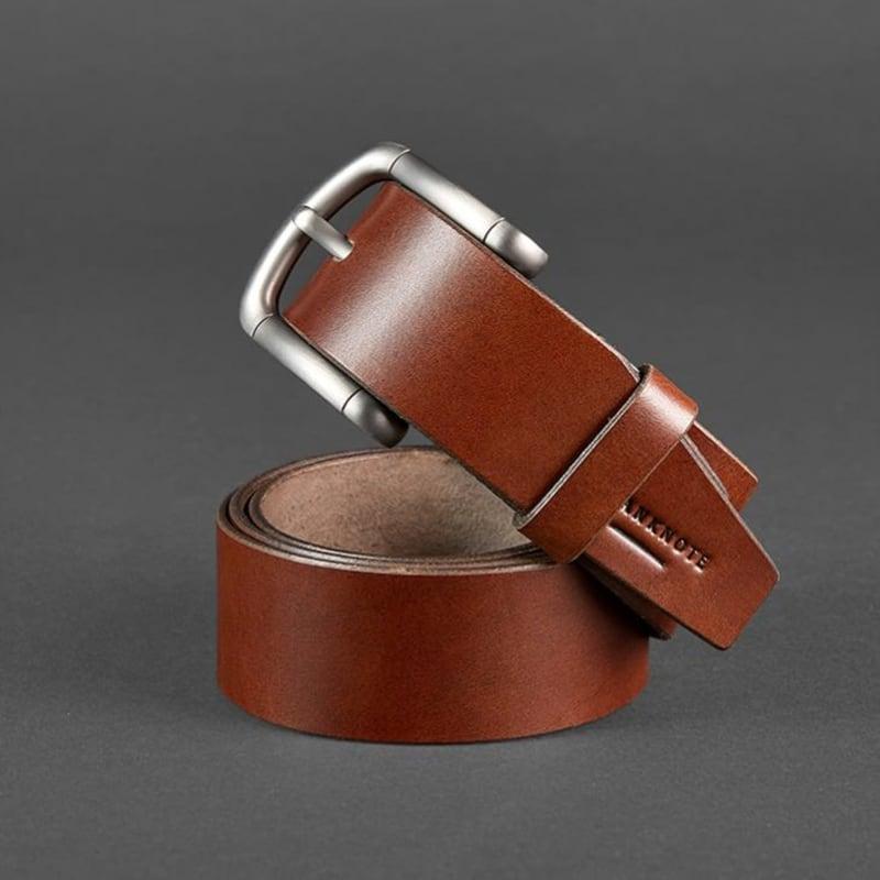 Шкіряний ремінь чоловічий Belt Сlassic Brown Leather