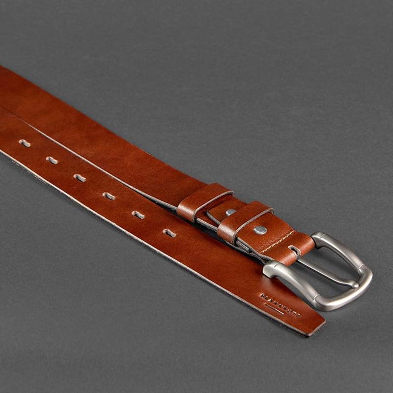 Кожаный ремень мужской Belt Сlassic Brown Leather