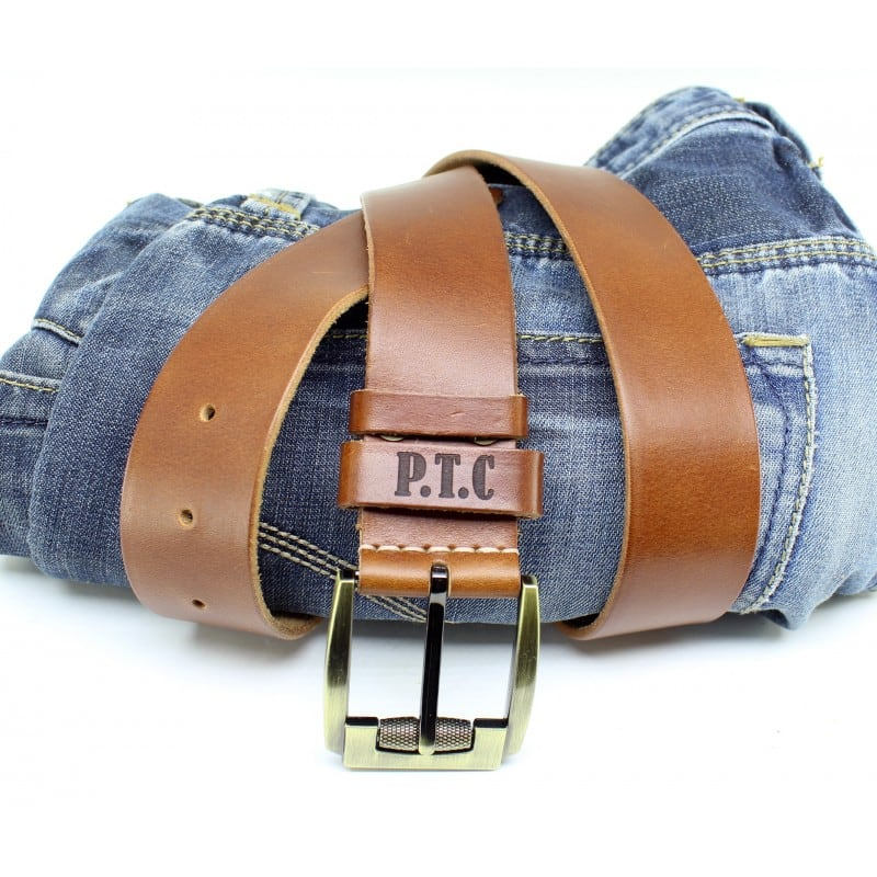 Ремінь чоловічий Belt Personal Brandy brown leather