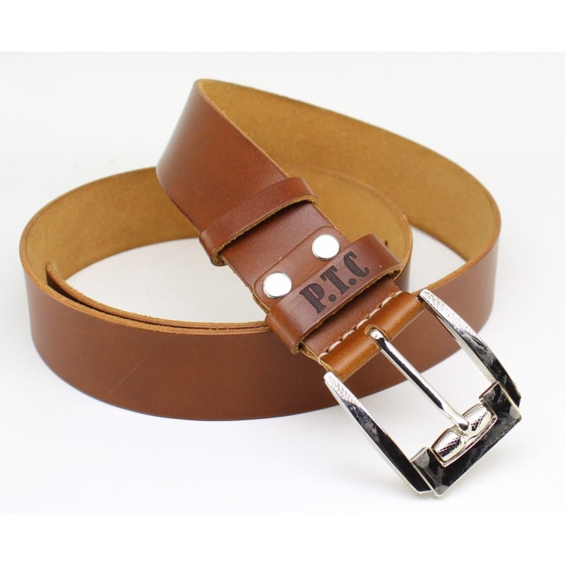 Кожаный ремень Belt Personal Ocher brown leather