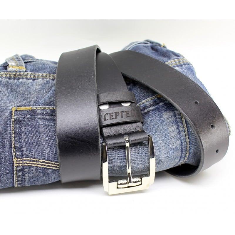 Шкіряний ремінь Belt Personal Katran black leather