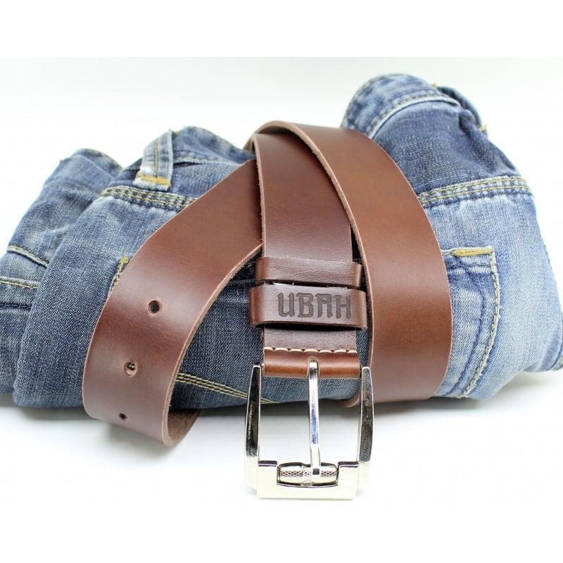 Ремень мужской кожаный Belt Personal Nut brown leather