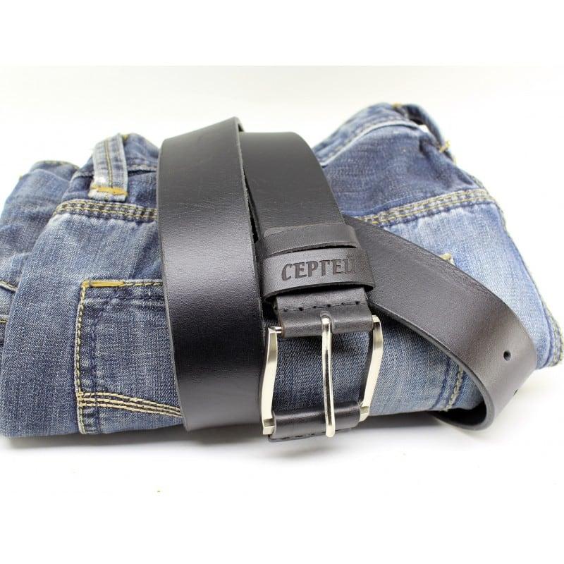 Ремінь чоловічий Belt Personal Obsidan black leather
