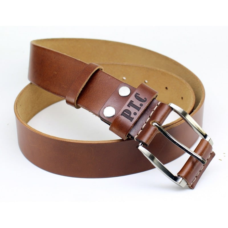 Ремінь чоловічий Belt Personal Chestnut brown leather