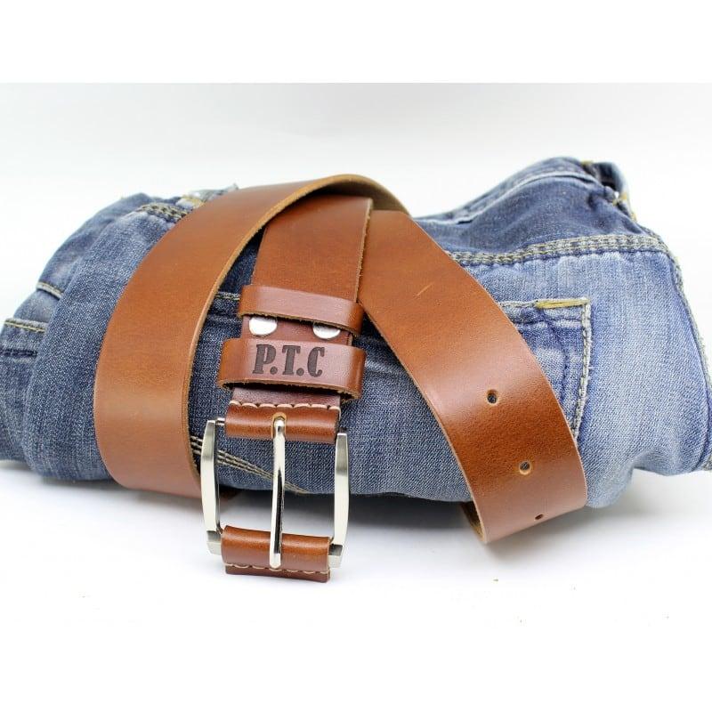 Ремінь чоловічий Belt Personal Chestnut brown leather