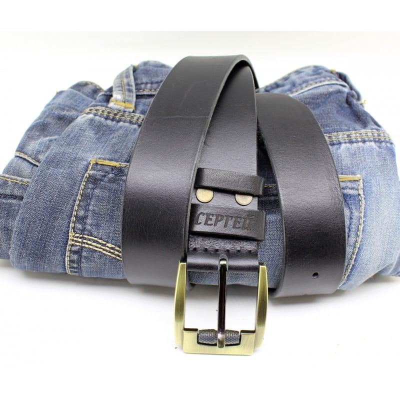 Чоловічий ремінь Belt Personal Naval blue leather