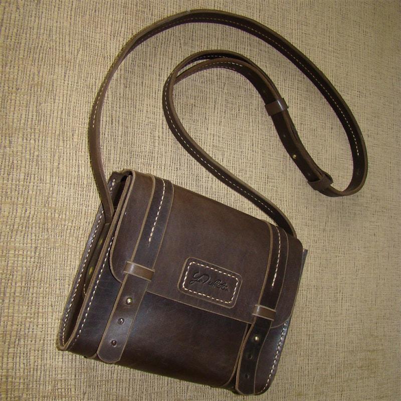 Женская сумка кожаная brown leather