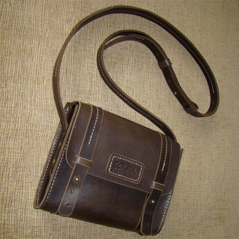 Жіноча сумка шкіряна brown leather