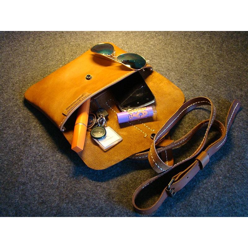 Женская сумка – клатч из кожи brown