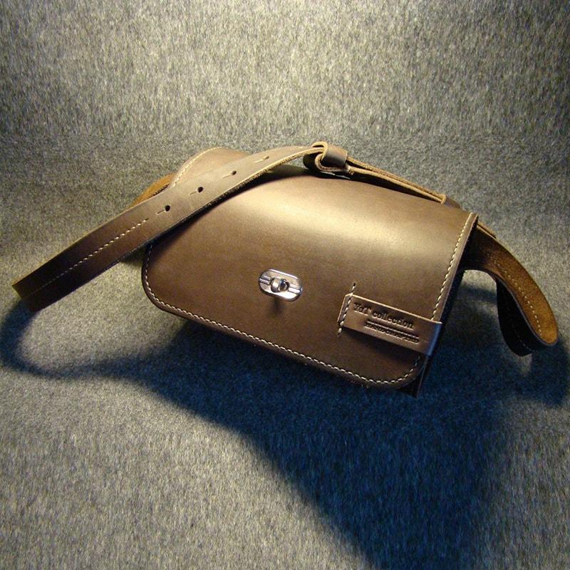 Жіноча шкіряна сумка – циліндр