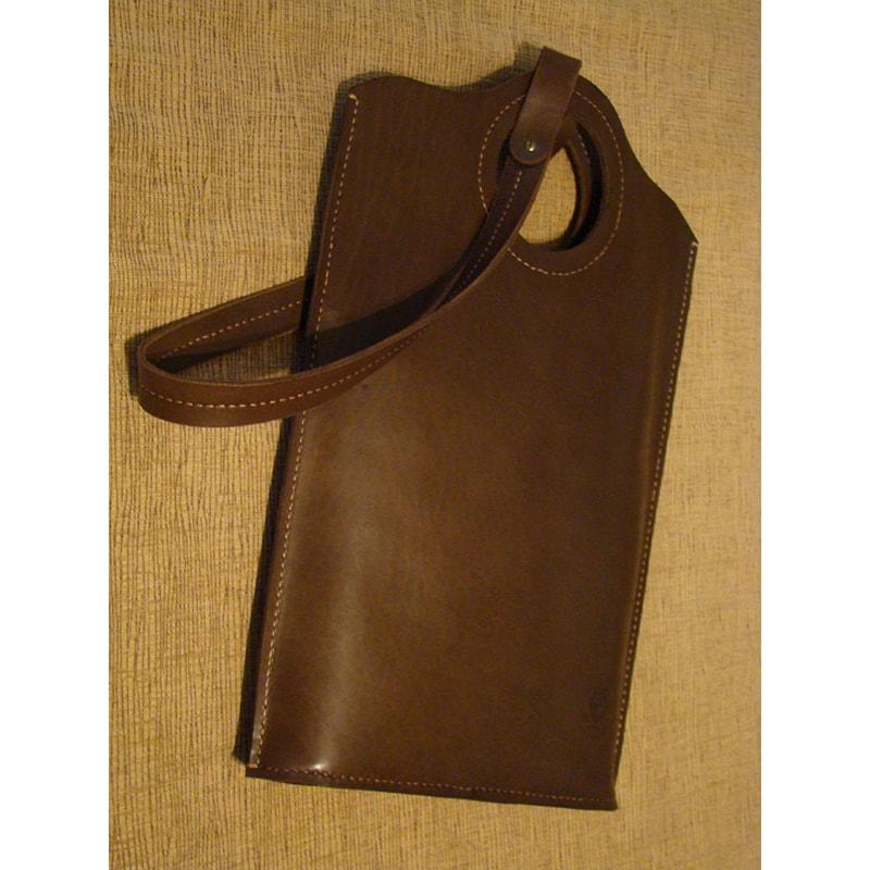 Сумка жіноча handmade brown leather