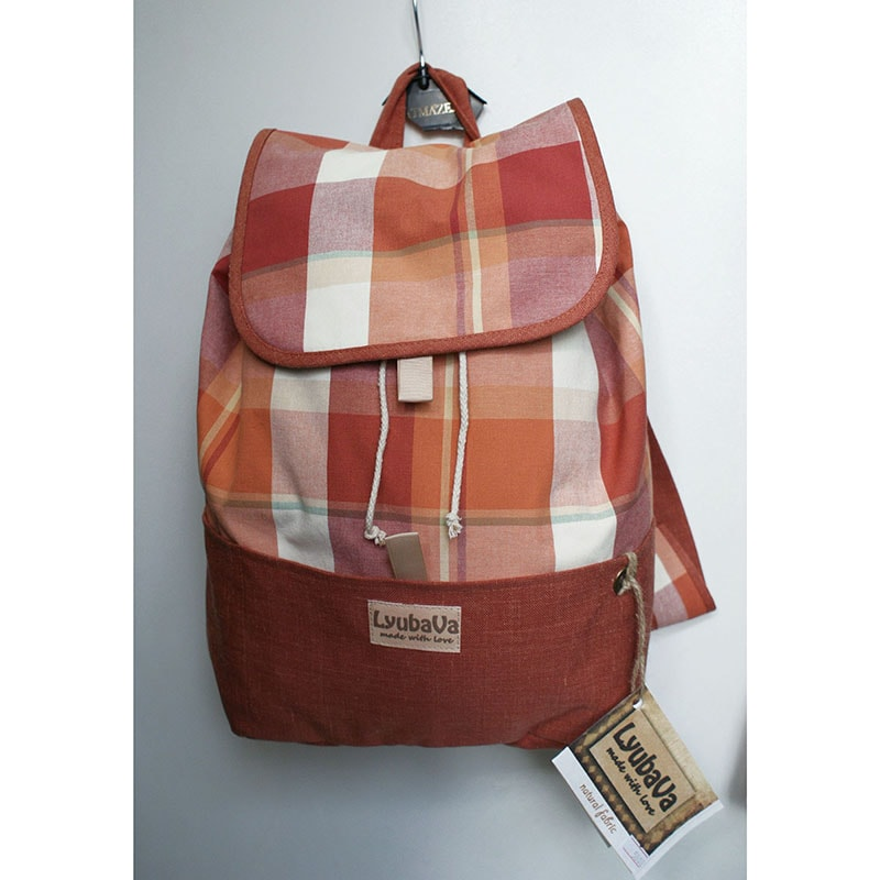 Дизайнерский рюкзак Lyubava Кирпичный Рыжик