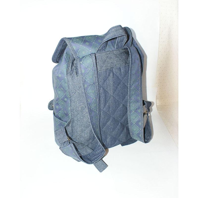 Авторский женский рюкзак Lyubava Джинсовый Жаккард