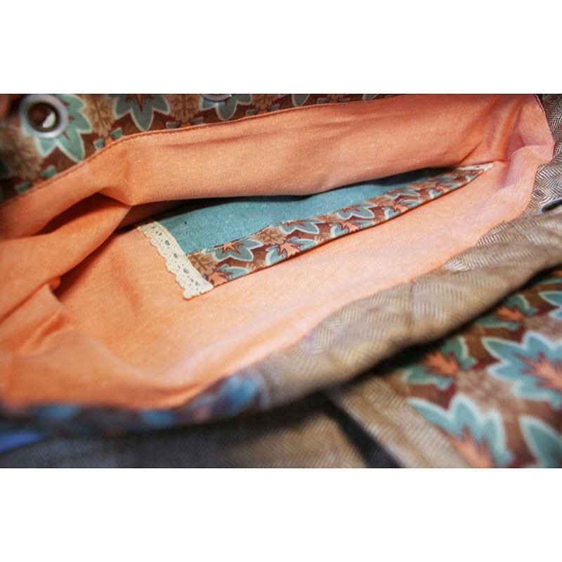 Текстильний жіночий рюкзак Lyubava Стильний жолудь