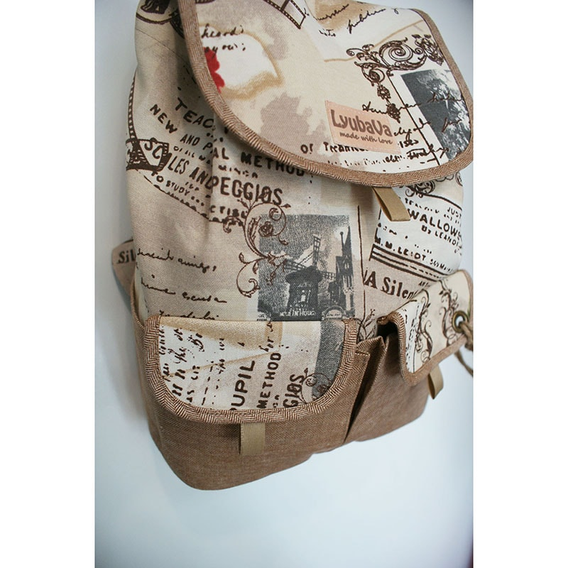 Женский рюкзак в подарок Lyubava Письма в Париж (мини)