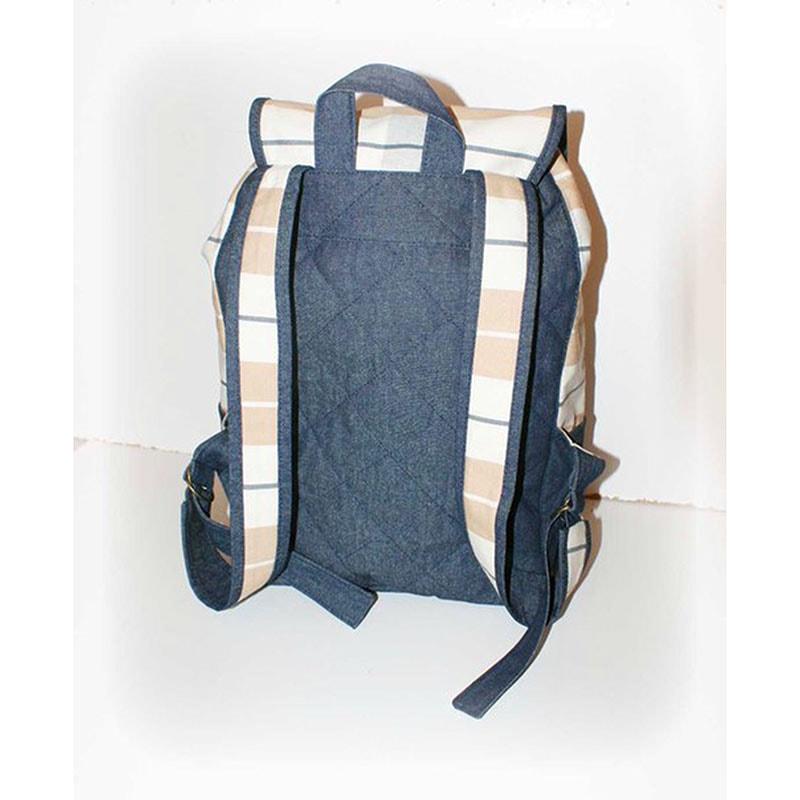 Жіночий рюкзак в подарунок Lyubava Беж і Джинс