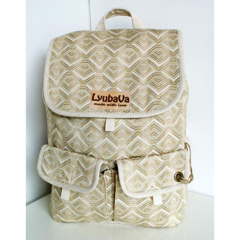 Авторский рюкзак Lyubava Кремовая Нежность