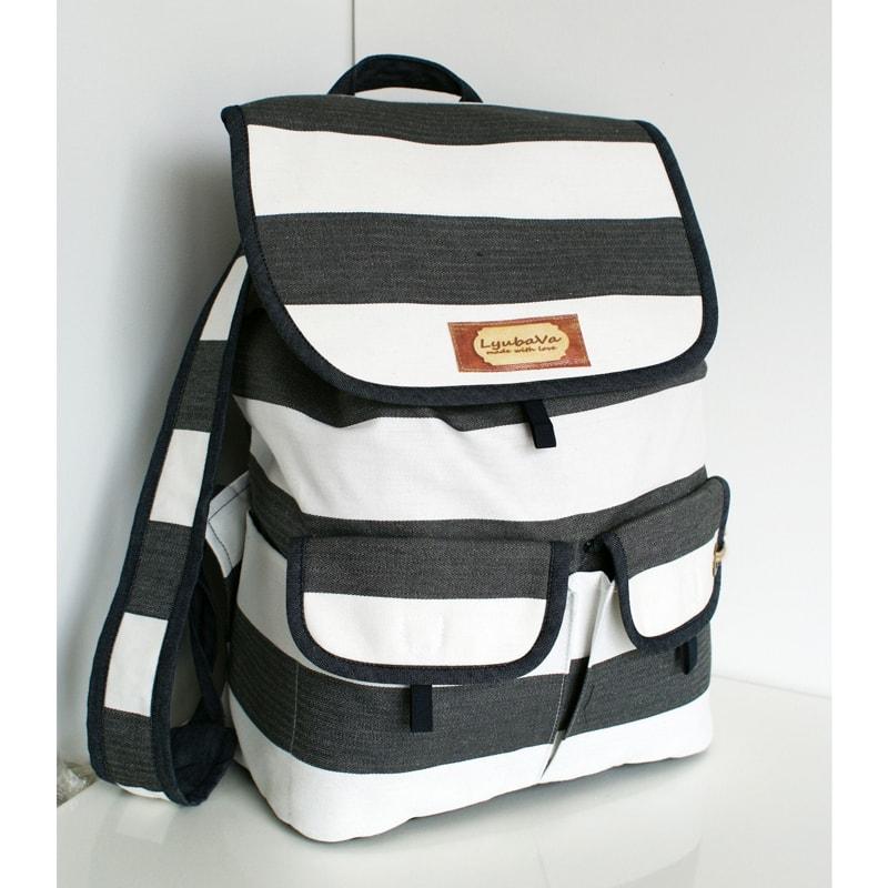 Рюкзак жіночий Lyubava Black and White