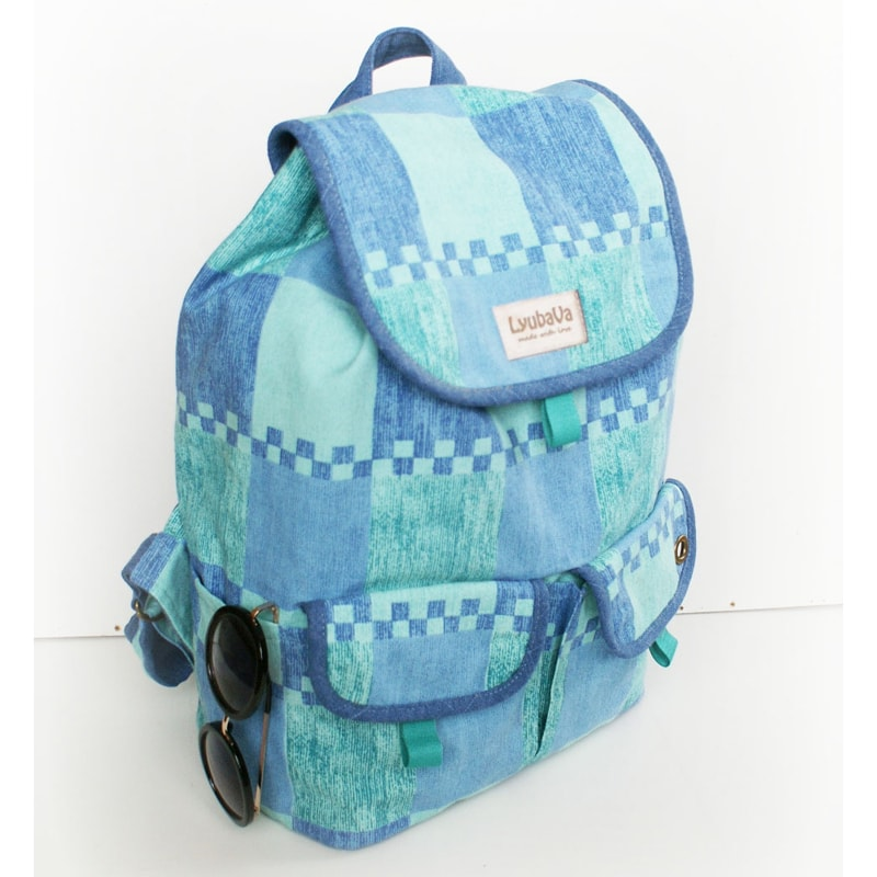 Женский рюкзак handmade Lyubava Игра синего