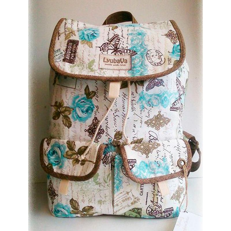 Рюкзак женский handmade Lyubava Любовные письма