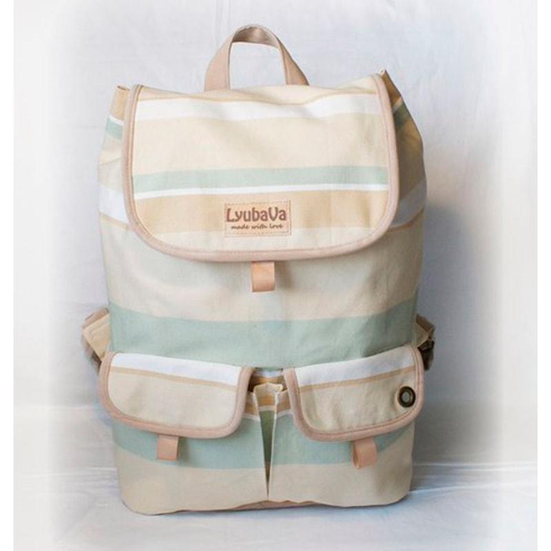 Дизайнерський рюкзак хенд мейд Lyubava Смуги