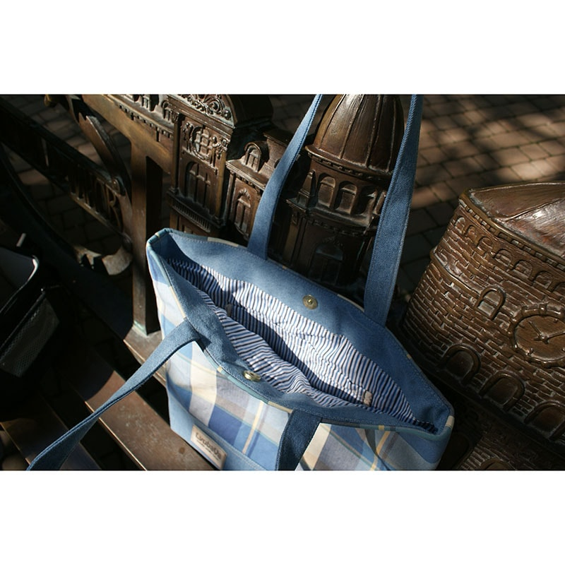 Женская сумка handmade Lyubava Джинсовые Клетки