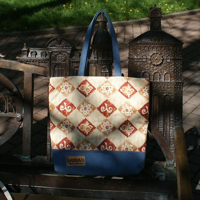 Дизайнерская женская сумка Lyubava Винтажные Ромбы
