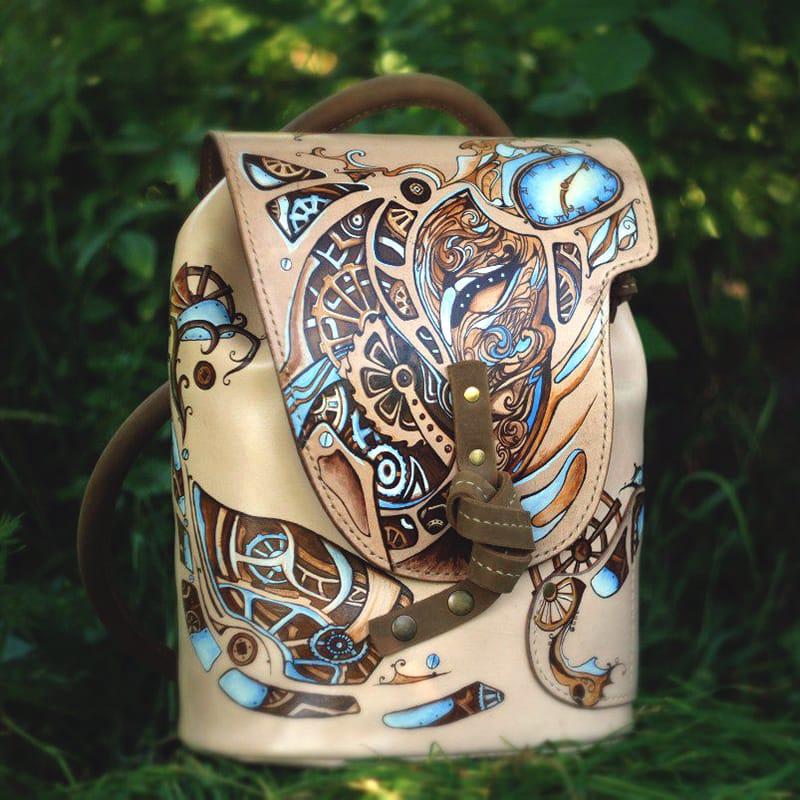 Женская сумка рюкзак кожаная CASUAL