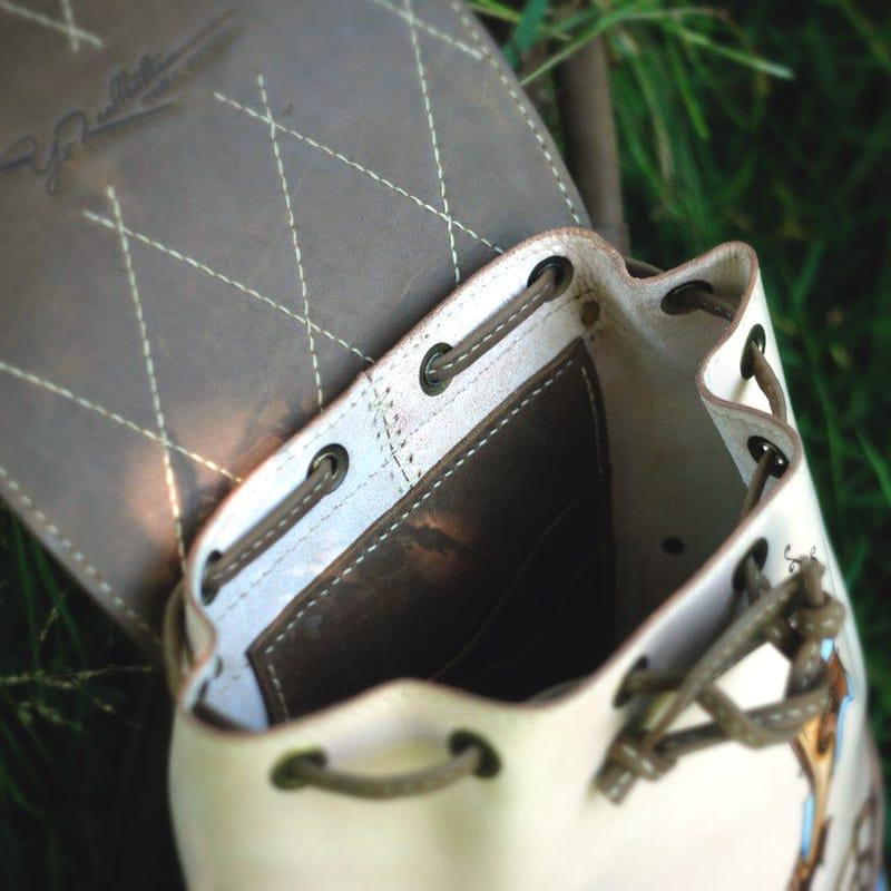 Жіноча сумка рюкзак шкіряна CASUAL