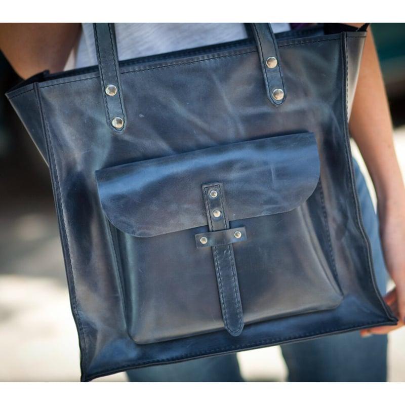 Дизайнерская кожаная сумка Vinous Leather